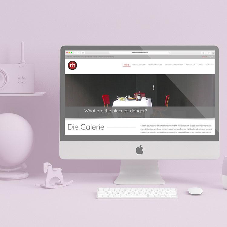 image du site galerie RH @fridasky - webdesigner