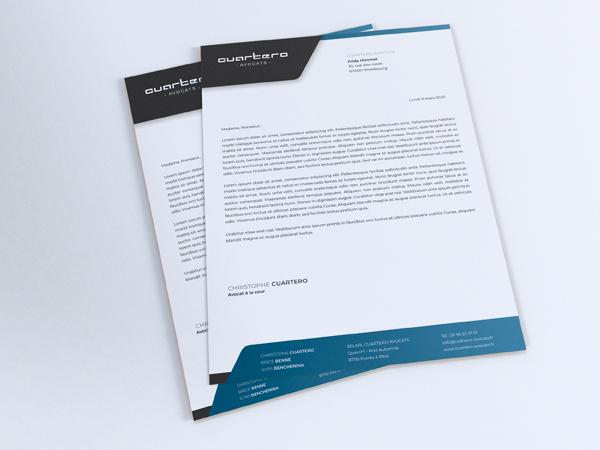 Papier à lettres Cabinet d'avocat