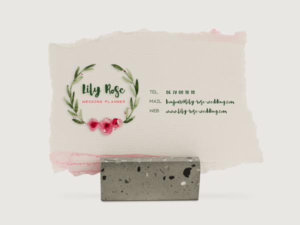 Carte de visite Lily Rose Verso