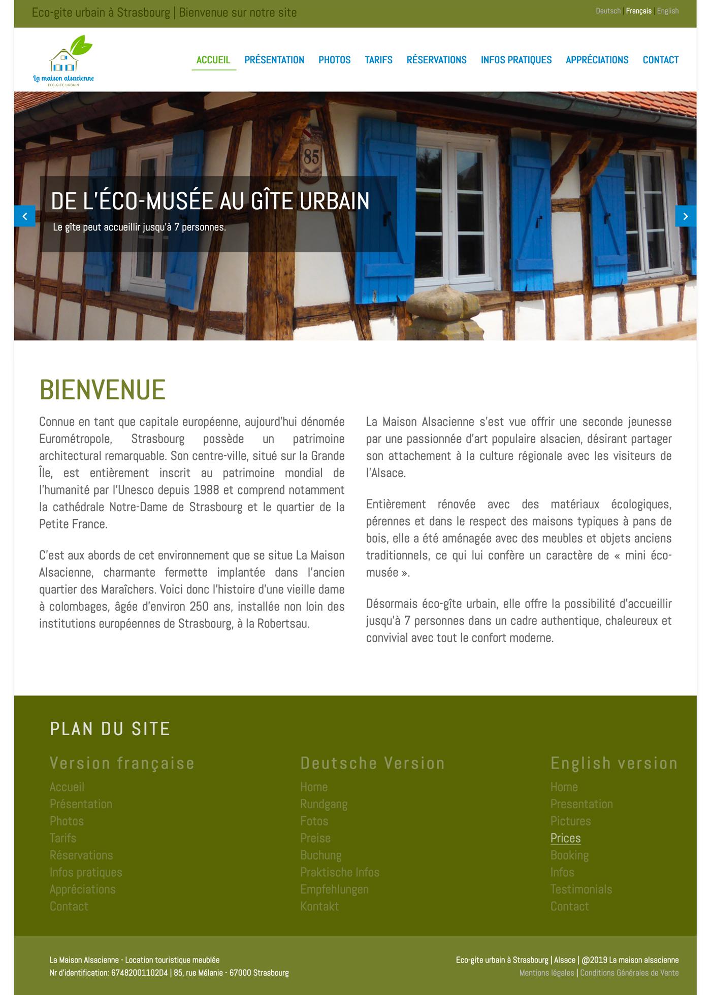 Site web La Maison Alsacienne