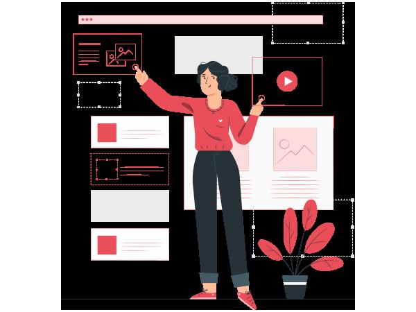 Illustration du rôle de webdesigner